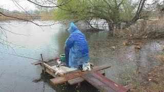 Рыбалка . Ловля карася на малой реке весной (в апреле). My fishing