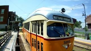 PCC cars on the MBTA Ashmont Mattapan High Speed Line