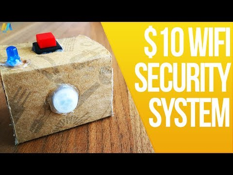 How to Make a $10 WiFi Security System at Home! No Fees and Works anywhere!