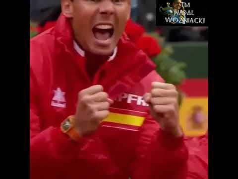 Rafael Nadal reaction from the sideline Davis Cup 2018