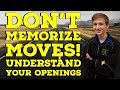 Gambar cover Don't Memorize Moves! Understand your Openings   Road to 2000