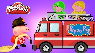 Play Doh Peppa Pig Fireman Nurse Tiger Wooden Dress Up Muddy Puddles Clay Buddies Blind Bags