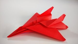 Como hacer un avion de papel F15 Eagle Jet Fighter