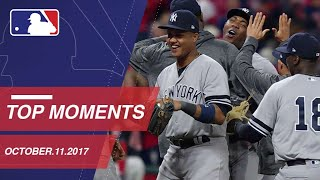 Yanks clinch ALDS, plus nine more moments on 10/11/17