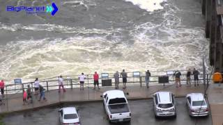 Bagnell Dam Flood Gates Open, Lake of the Ozarks July 1st Flood 2015