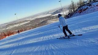 Катание на горных лыжах в Банном 2020 год декабрь