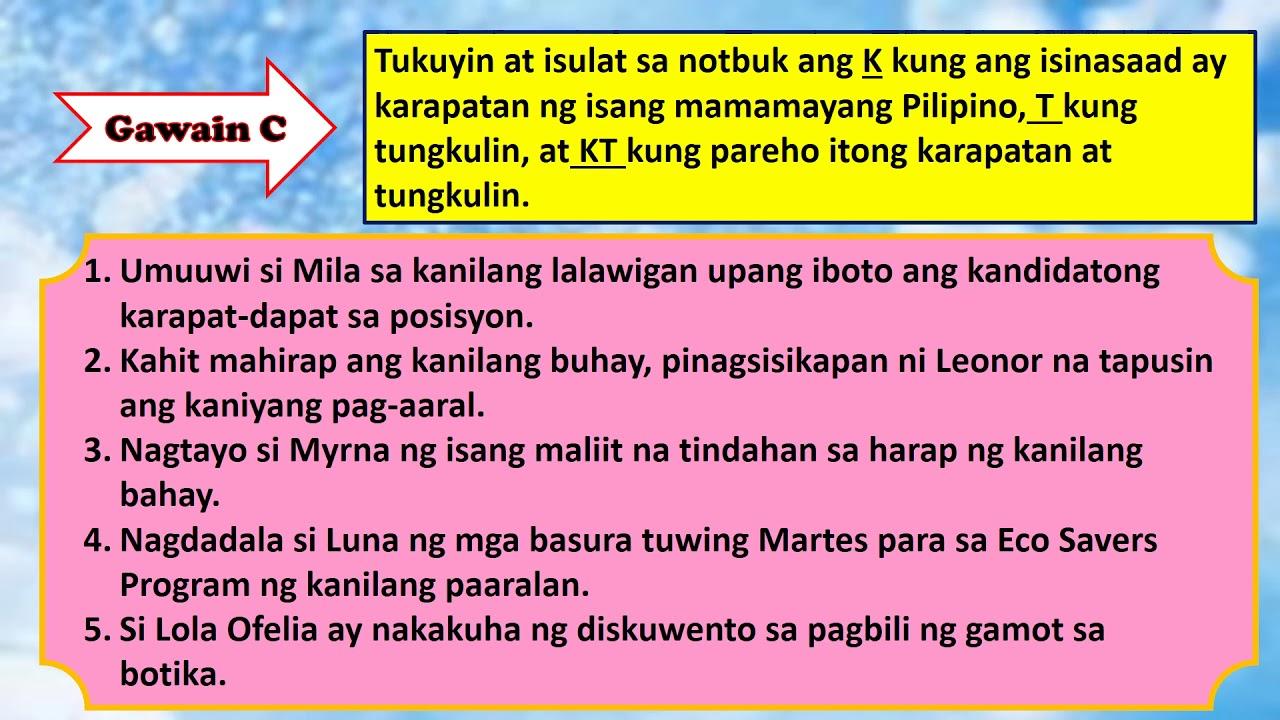 AP Y4 Aralin 4: Tungkulin Kaakibat ng mga Karapatan ng Mamamayang Pilipino