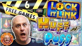 HUGE WIN$ on the NEW LOCK IT LINK! 🐷Huff N' Puff Double Jackpots! 🤑