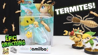 Invisible Termites destroy Rosalina Amiibo! Epic Unboxing (skit) Super Smash Bros Wii U Toys