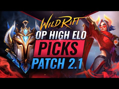 5 OP HIGH ELO Picks for Patch 2.1 – Wild Rift (LoL Mobile)