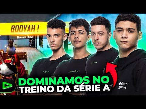 AMASSAMOS NO TREINO DA SERIE A! XTREINO LIGA FREE FIRE!