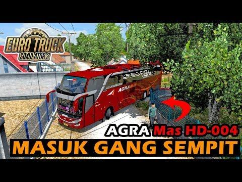 Naik Bus SHD Tronton Agra Mas Saat Hujan, Bikin Suasana Syahdu - ETS 2 Mod Indonesia - 동영상