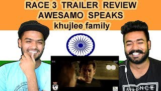 Indian reaction on RACE 3 TRAILER Review BY AWESAMO SPEAKS | khujlee family | Swaggy d