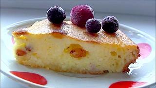Творожная запеканка с изюмом Cottage cheese casserole with raisins