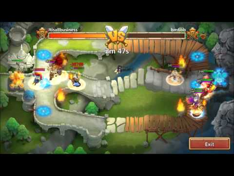 Castle Clash Fighting For First Place In Arena