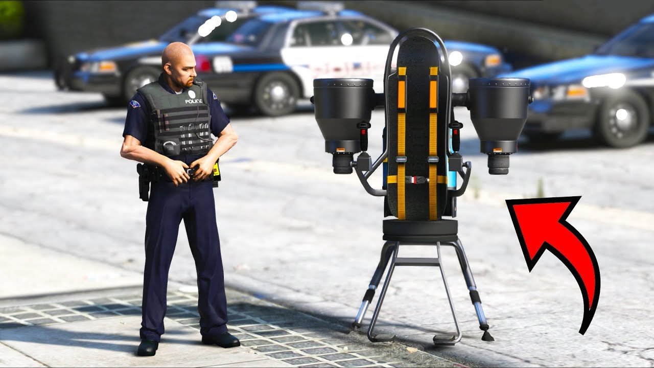*NEW* Police Jetpack Patrol!! (GTA 5 Mods - LSPDFR Gameplay)