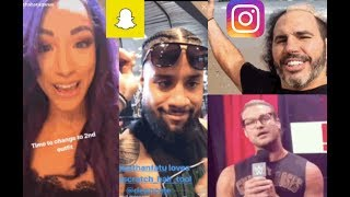 WWE Snapchat/Instagram ft. Sasha Banks, The Usos, Matt Hardy, Becky Lynch, Dolph Ziggler n MORE