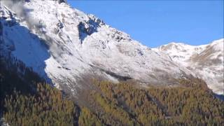Spectacular Rockslide in Switzerland (two angles)