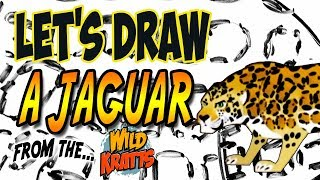 Drawing a Jaguar from Wild Kratts with basic shapes and lines