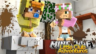 LITTLE KELLY IS COVERED IN POOP!!! - Minecraft Little Club Adventures