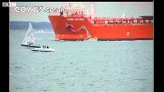 Yacht and Tanker Collide at Cowes Week Regatta
