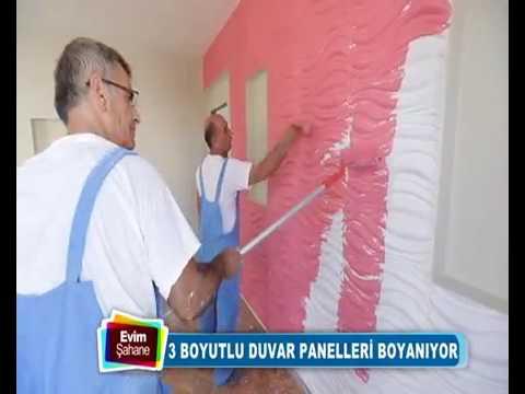 Uc Boyutlu Duvar Paneli Boyama Www Hereveduvar Com Youtube