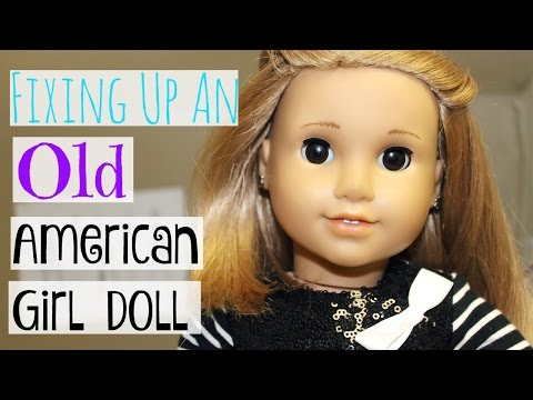 Fixing An Old American Girl Doll!