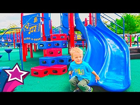 Amazing Kids Playground Fun Giant Slides Swings Playtime in