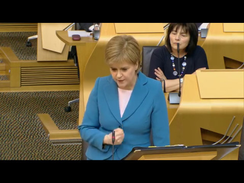 First Minister's Questions 11 May 2017 - NHS Scotland