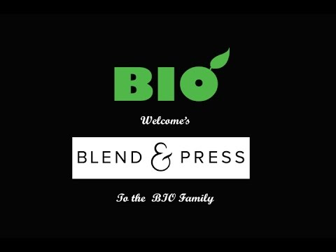 Blend & Press Becomes Part Of The BIO Family. BIO Commercial Cold Press Juicers UK
