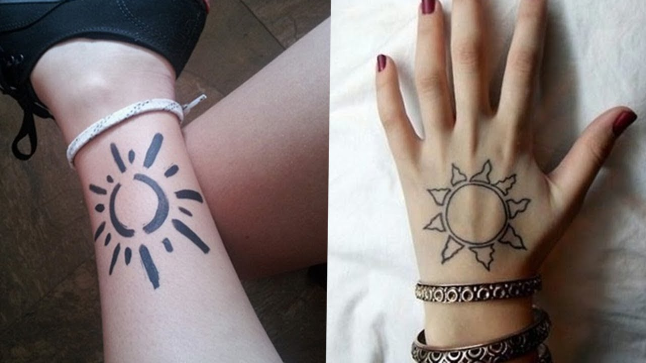 Warm and Bright Sun Tattoo Ideas