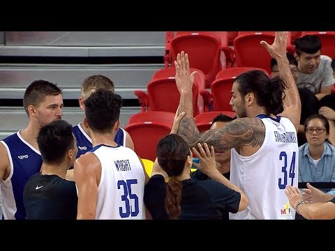 Christian Standhardinger Stands Up For Jio Jalalon Against Lithuania's Edvinas Šeškus (VIDEO) Jones Cup 2017