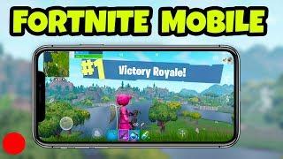 Fortnite MOBILE Gameplay - #1 Mobile Fortnite Player! (Fortnite Mobile Gameplay)