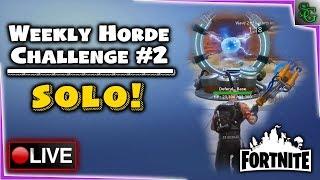 Fortnite Gameplay - Challenge the Horde - SOLO Weekly Challenge #2 (Kinetic Beats)