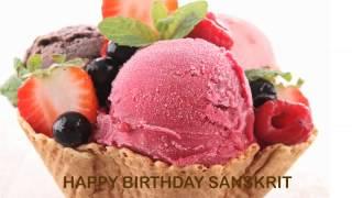 Sanskrit   Ice Cream & Helados y Nieves - Happy Birthday