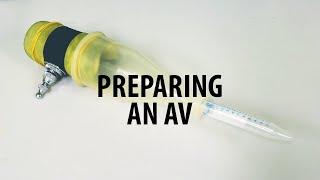 Vorbereitung einer Künstlichen Vagina (AV) für die ram-besamungsstationen