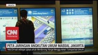 Pemprov DKI Keluarkan Peta Jaringan Angkutan Umum Massal Jakarta