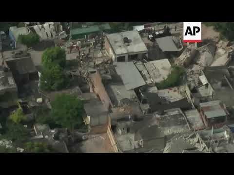 Aerials of school in Mexico City reveal level of devastation