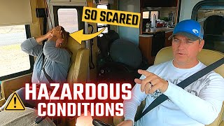 Driving an RV in SCARY Conditions // RV Living