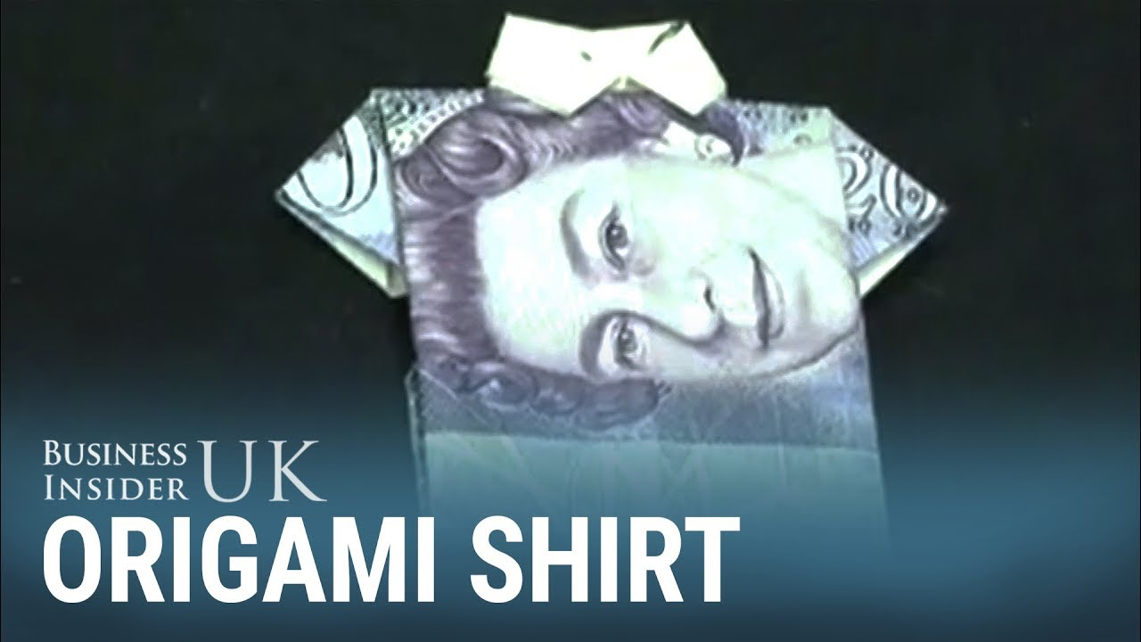 Money Origami Shirt and Tie Folding Instructions | Origami shirt ... | 720x1280