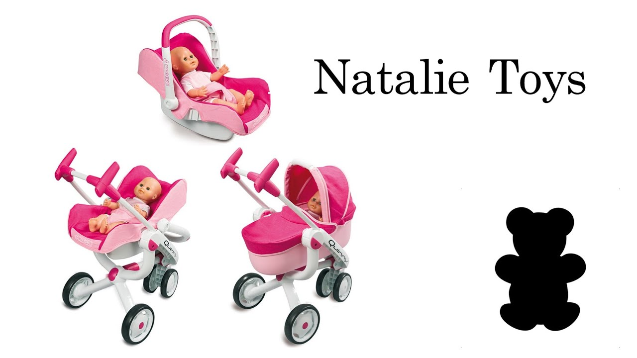 Natalie Toys - Stroller Smoby Maxi-Cosi and Quinny 4in1 - YouTube