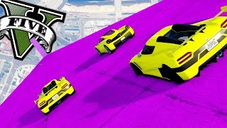 GTA V Online: DESCENDO A MEGA RAMPA COM SUPERS, TROLEI UM INSCRITO