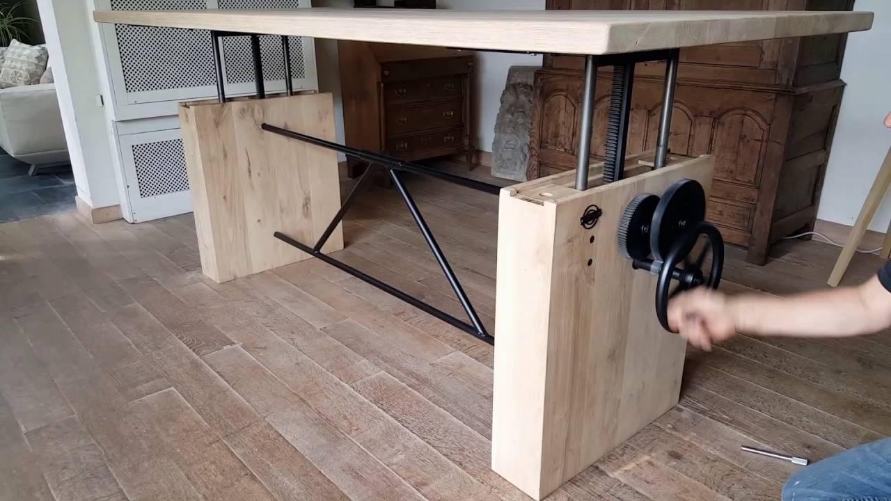 Dt14 Adjustable Height Crank Table Hoogte Verstelbare