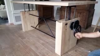 DT14 | Adjustable Height Crank Table | Hoogte verstelbare tafel | Höhenverstellbare Tisch