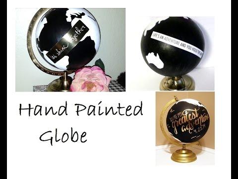 {DIY} Hand Painted Globe