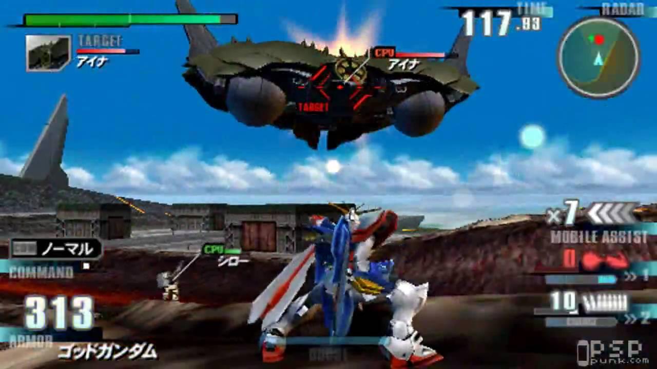 Gundam Next Plus -PSP- Stage I-6 [BOSS] [HD] - YouTube