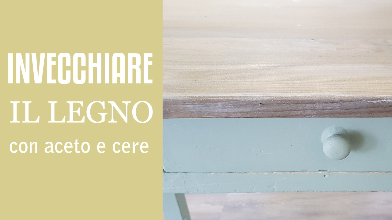 Legno Bianco Vintage : Invecchiare il legno con le cere vintage youtube
