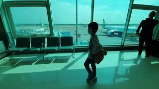 大阪京都自由行ep2|逛逛人好少的桃園機場....一起走到C9登機口