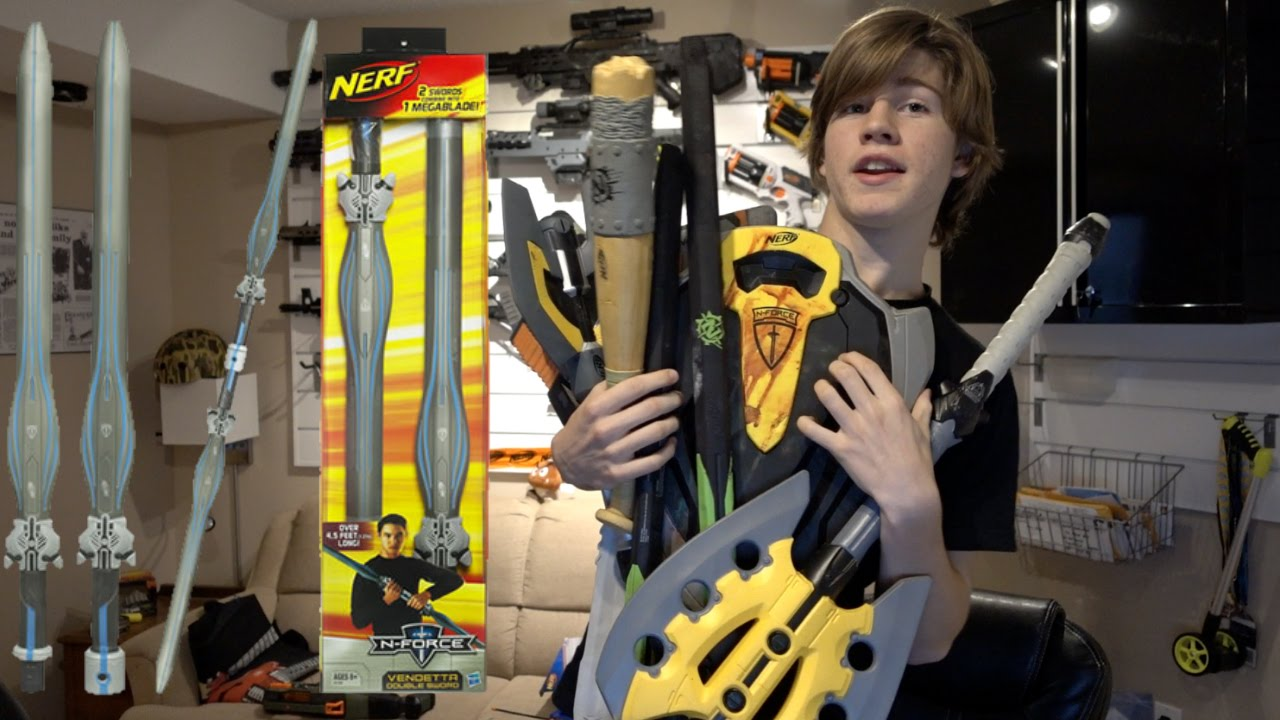 nerf n force vendetta double sword review youtube