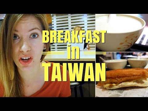Taiwanese Breakfast in Taipei, Taiwan